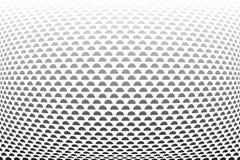 Modelo convexo de los semi-círculos Fondo Textured ilustración del vector