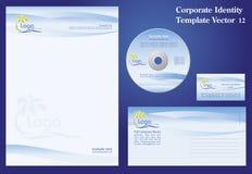 Modelo corporativo del vector Imagen de archivo