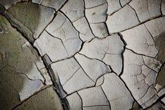 Modelo creado de una tierra agrietada de la foto Tiempo seco, sequía Imagen de archivo libre de regalías