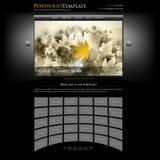Modelo creativo de la lista del Web site - editable Fotografía de archivo libre de regalías