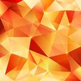 Modelo cristalino anaranjado del extracto del vector Fotos de archivo libres de regalías