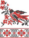 Modelo cruzado eslavo del bordado Imagenes de archivo