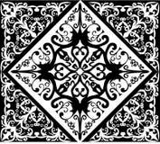 Modelo cuadrado abstracto blanco y negro stock de ilustración