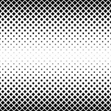 Modelo cuadrado blanco y negro inconsútil ilustración del vector