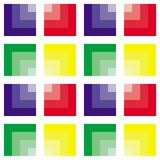 Modelo cuadrado abstracto Fotos de archivo