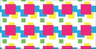 Modelo cuadrado colorido abstracto moderno simple Foto de archivo