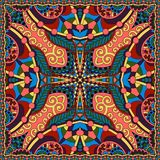 Modelo cuadrado de seda de la bufanda o del pañuelo de cuello Fotos de archivo libres de regalías