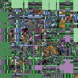 Modelo cuadrado irregular en trullo profundo y verde Foto de archivo libre de regalías