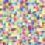 Modelo cuadrado multicolor imagen de archivo
