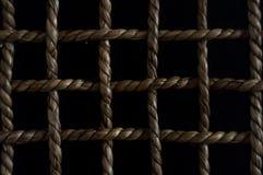 Modelo a cuadros con una cuerda Foto de archivo libre de regalías