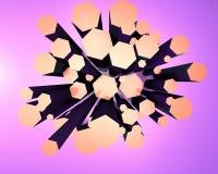Modelo 3d abstrato Imagens de Stock Royalty Free