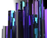 Modelo 3d abstrato Imagem de Stock Royalty Free