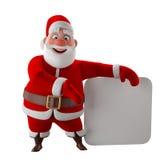 Modelo 3d alegre de Papai Noel, ícone do Natal feliz, Imagem de Stock Royalty Free