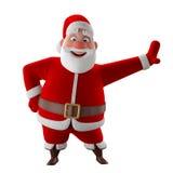 Modelo 3d alegre de Papai Noel, ícone do Natal feliz, Imagem de Stock