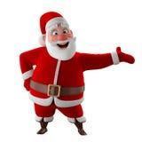 Modelo 3d alegre de Papai Noel, ícone do Natal feliz, Foto de Stock