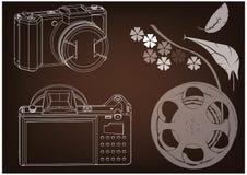 modelo 3d da câmera ilustração royalty free