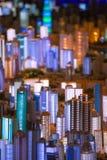 modelo 3D de la ciudad de Shangai Imagen de archivo libre de regalías