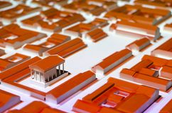 ciudad romana 3D Imagen de archivo