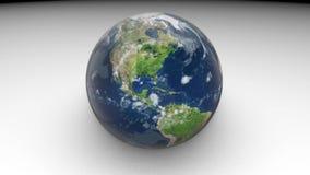 modelo 3d de la tierra del planeta La tierra gira en un fondo blanco stock de ilustración