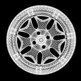 modelo 3d de los bordes de la rueda de coche Fotografía de archivo