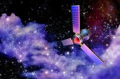 modelo 3D de um satélite artificial da terra Foto de Stock