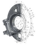 modelo 3d de umas peças industriais defuntos Imagem de Stock Royalty Free