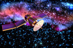 modelo 3D de un satélite artificial de la tierra Fotos de archivo