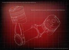 modelo 3d del pistón imagen de archivo