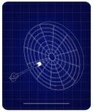 modelo 3d dos dardos em um azul ilustração do vetor