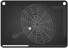 modelo 3d dos dardos em um preto ilustração stock