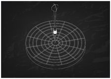 modelo 3d dos dardos em um preto ilustração do vetor