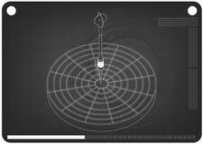 modelo 3d dos dardos em um preto ilustração royalty free