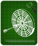 modelo 3d dos dardos em um verde ilustração royalty free