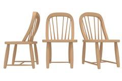 Modelo 3D interior da cadeira do vintage Imagem de Stock