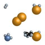 Modelo 3d simples das moléculas de substâncias diferentes Fotografia de Stock Royalty Free