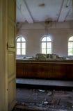 Modelo dañado de un museo abandonado Imagenes de archivo