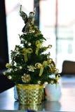 Modelo da árvore de Natal foto de stock
