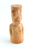 Modelo da argila de Moai. Imagem de Stock