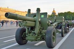 modelo 1931 da arma 122-milímetro 37 anos de 52-P-471, A-19, tra militar Imagens de Stock