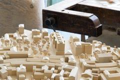 Modelo da arquitetura com vício do carpinteiro Imagem de Stock