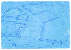 Modelo da arquitetura - plano da casa ilustração royalty free