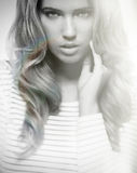 Modelo da beleza Foto de Stock Royalty Free