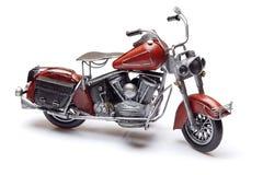 Modelo da bicicleta vermelha no fundo branco Foto de Stock Royalty Free