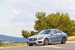 Modelo 2015 da C-classe 2014 de Mercedes-Benz Imagens de Stock Royalty Free