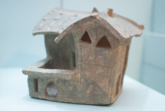 Modelo da casa da cerâmica de Han Dynasty oriental Imagens de Stock