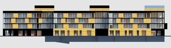 MODELO da casa da multy-história 3D imagens de stock royalty free