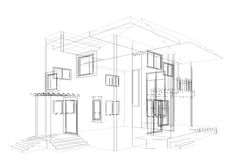 Modelo da casa de campo Imagens de Stock Royalty Free