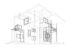 Modelo da casa de campo Imagens de Stock