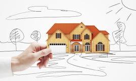 Modelo da casa de campo disponivel Fotos de Stock