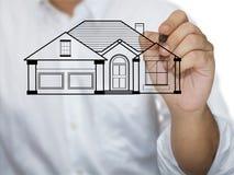 Modelo da casa do desenho Imagens de Stock